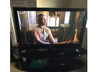 """Samsung 50"""" HD ready TV with glass stand"""