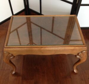 Beautiful Ornate Coffee Table with Glass Insert