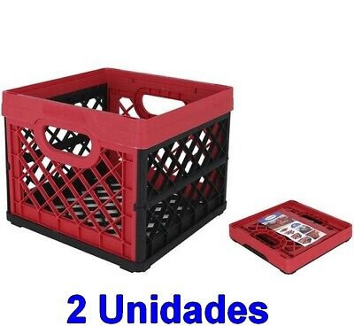 2 Unidades Caja cesta organizador Multiusos Plegable,Plastico,33,5 x 33 x 28 cm