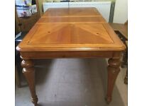 Gorgeous, Solid and Very Heavy, Extending, Wooden Dining Table.