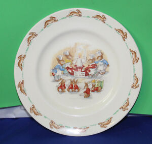 Bunnykins By Royal Doulton plate and mug