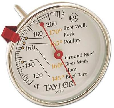 Read Dial Thermometer - NEW TAYLOR 5939N CLASSIC STAINLESS MEAT THERMOMETER EASY READ DIAL ADJUSTABLE