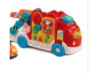 Vtech toot toot drivers racing track, load up truck and 4 vehicles