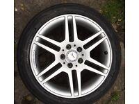 """Genunine Mercedes AMG Alloys 17"""" rim with tyre"""