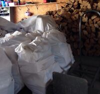 Bagged firewood! Large 75lb bag of pine only $20!