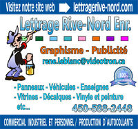 Lettrage Rive-Nord 450-588-2448