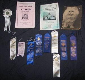 RARE CAT SHOW MEMORABILIA 1931 - 1965, CANADIAN (CNE) & AMERICAN