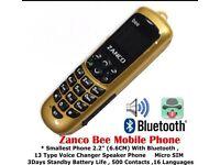 Zanco bee phone smallest mobile phone beat the boss plastic tiny key fob new 2016