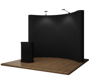 NEW 10ft Pop-Up Trade Show Display Exhibition System Back Drop
