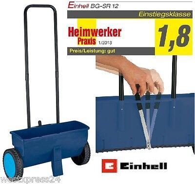 Einhell Streuwagen für Rasensamen, Dünger, Winterstreugut usw. 12 L
