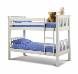 Solid, wooden, bunk bed, with, x 2 mattress,