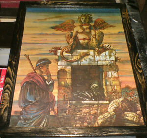 2 Classic art pics; the Riddle of the Sphinx & the Trojan Horse