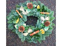 Fresh Christmas Door Wreaths - Orders being taken now