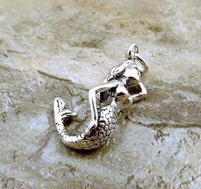 Sterling Silver Mermaid Charm - 1324
