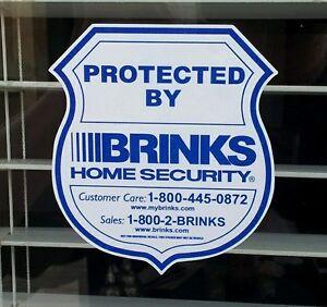 6 Brinks Home Security Alarm Decals Stickers