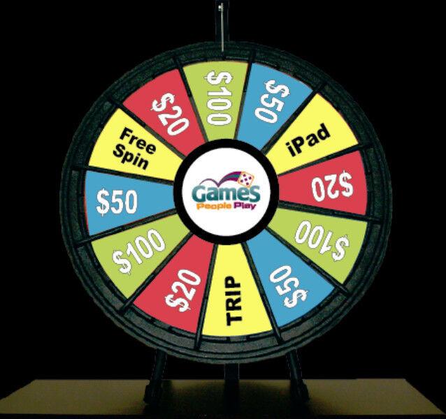12 Slot Black Table Top 26 Inch Prize Wheel