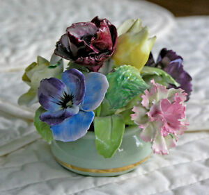 Staffordshire Porcelain Floral Bouquet Bone China (Vintage)