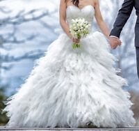 Off white one of a kind wedding dress