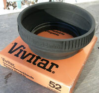 VIVITAR 52mm CAMERA LENS HOOD VGC With Box New