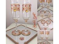 Stunning Personalised champagne glasses