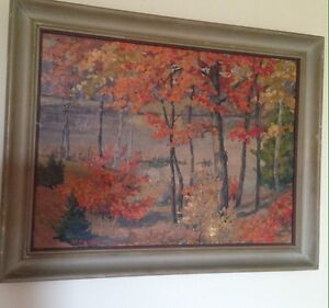 W.H. Wright pre 1950 mid century oil painting on board listed