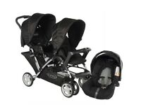 Graco double buggy and car seat