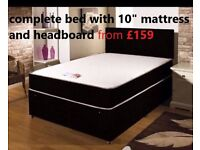 Winter sale!Super stunning! Brand New COMPLETE BED SET! Bed, 10inch luxurious mattress and headboard