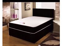 """BRAND NEW COMPLETE BED SET! Bed base, 10""""; mattress and headboard of your choice! Free delivery"""