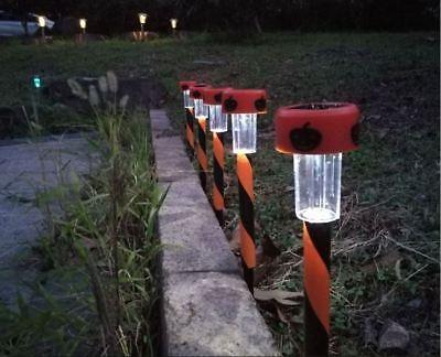 4PK Solar halloween Pumpkin stake Landscape pathway light Garden decor Light - Halloween Garden Stakes