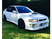 SUBARU IMPREZA WRX STI VERSION 3 RARE WHITE GENUINE RED TOP STI