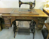 Greist Sewing Machine with Attachments
