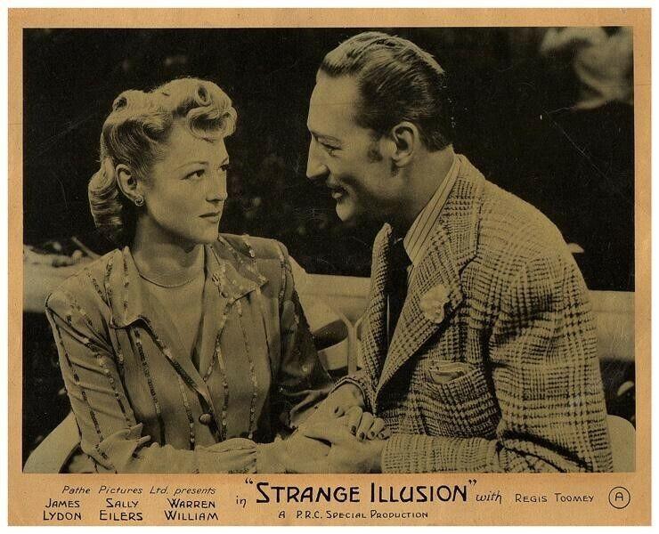 Strange Illusion Original Lobby Card Sally Eilers Warren William Film Noir 1945