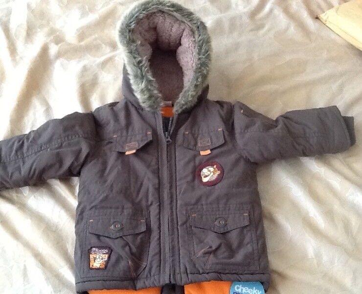 Padded Winter Coat, Disney Tigger, 18-24 Months, BNWT £10