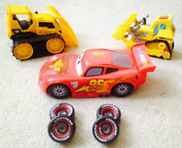 MCQUEEN, BATTERIES with CHANGEABLE WHEELS LOT   NEW