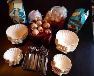 Vintage escargot serving set
