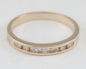 14k Yellow Gold Channel Set Diamond Band (0.10 tdw) #1414