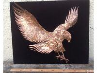 Large metal eagle wall art sculpture. Perfect surprise xmas present