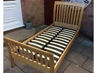John Lewis Oak Single Bed Frame.