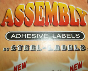 ASSEMBLY LABELS - YOU CAN LABEL ANYTHING YOU TAKE APART