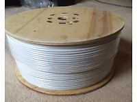 250m drum of twin white coax cable