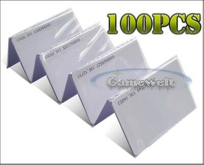 100 Pcs 125khz Rfid Proximity Em4100 Compatible Id Cards Credit Card Size