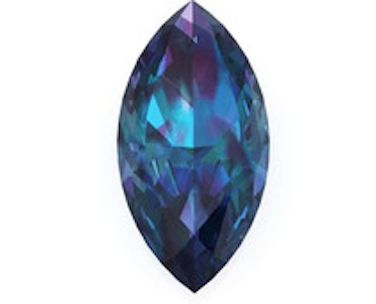 Lab-Created Pulled Alexandrite Color Change Marquise Loose Stone (4x2mm-20x10mm)