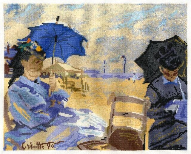 DMC Cross Stitch Kit - National Gallery Monet The Beach at Trouville BL1064/71