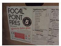 Focal point natural gas fire