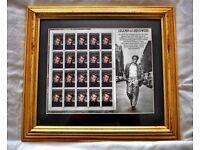 James Dean Framed Mint USPS Stamp Sheet (Legends of Hollywood)