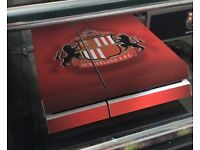 White PS4 with safc skin plus extras