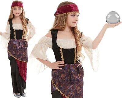 Kinder Mädchen Deluxe Wahrsagerin Maskenkostüm Kinder Outfit Smiffys