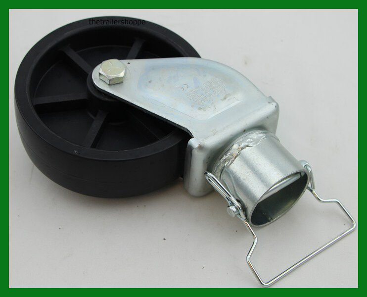 """Trailer Jack 6"""" Plastic Caster Wheel with Pin -2"""" ID"""