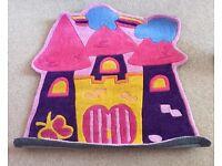 Brand new princess castle pink rug