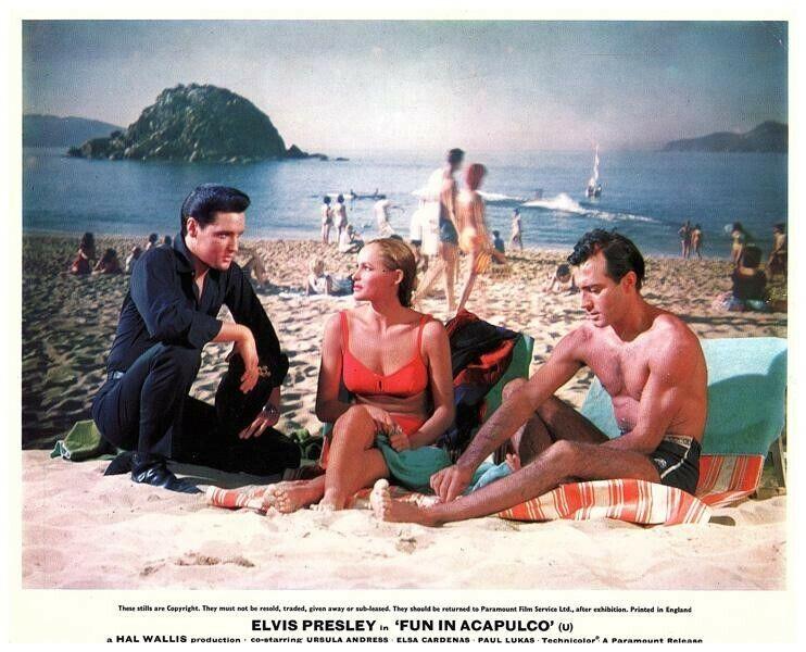 Fun In Acapulco Original Lobby Card Elvis Presley Ursula Andress Alejandro Rey